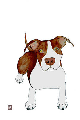 Pitbull Painting - Billy by Richard Williamson