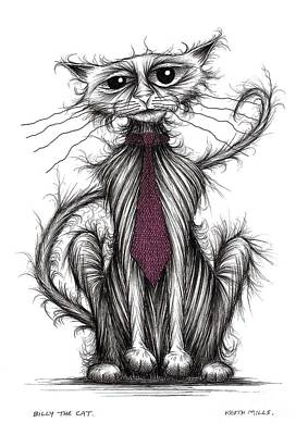 Billy The Cat Art Print by Keith Mills