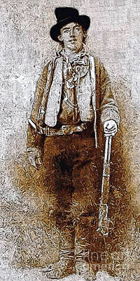 Long Rifle Photograph - Billy The Kid 20130211v3 Long by Wingsdomain Art and Photography
