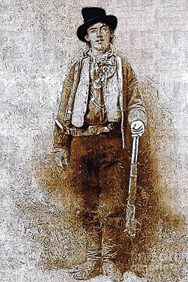 Whim Digital Art - Billy The Kid 20130211v3 by Wingsdomain Art and Photography