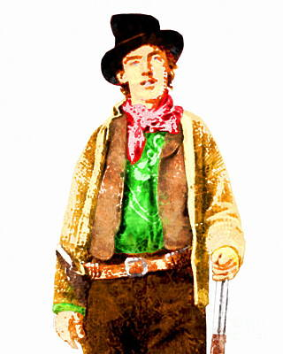 Photograph - Billy The Kid 20130518wc V2 by Wingsdomain Art and Photography