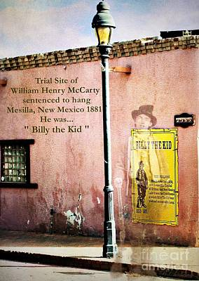 Judge Roy Bean Photograph - Billy The Kid by Barbara Chichester