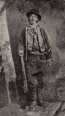 Gunslingers Photograph - Billy The Kid C. 1879 by Daniel Hagerman