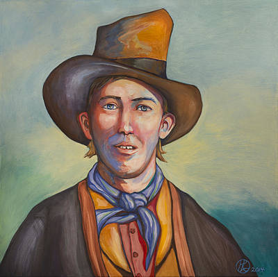 Bandit Painting - Billy The Kid by Robert Lacy