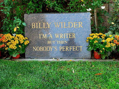 Photograph - Billy Wilder Grave by Jeff Lowe