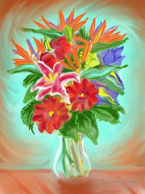 Painting - Billys Flowers by Jean Pacheco Ravinski