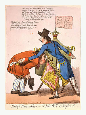 Billys Raree-show Or John Bull En Lightend, England Art Print