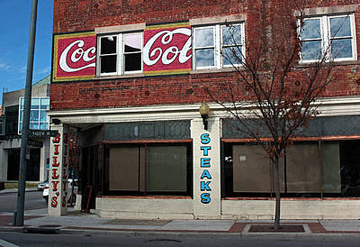 Coca-cola Signs Photograph - Billy's Ritz In Watercolor by Suzanne Gaff