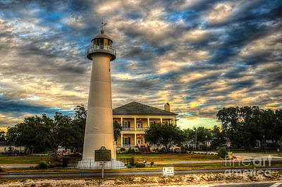 Biloxi Lighthouse And Welcome Center Art Print