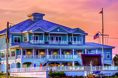 Architecture - Biloxi Yacth Club Art Print by Barry Jones