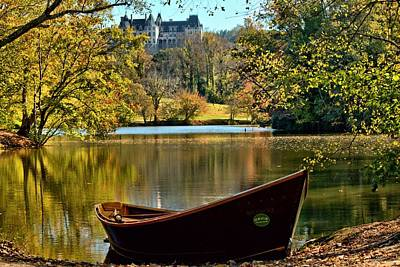 Asheville Photograph - Biltmore Autumn And Orvis Rowboat by Carol R Montoya