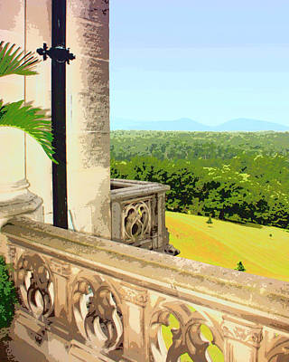 Biltmore Balcony Asheville Nc Art Print by William Dey