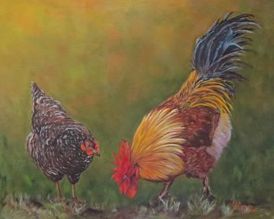 Biltmore Chickens  Art Print