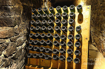 Photograph - Biltmore Estate Wine Cellar -stored Wine Bottles by Luther Fine Art