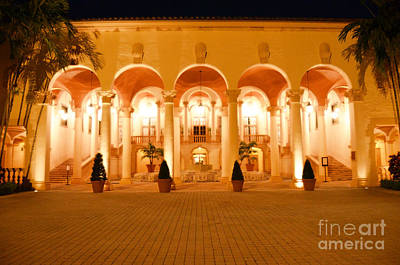 Digital Art - Biltmore Hotel Arched Colonnade And Grand Ballroom Courtyard Coral Gables Miami Diffuse Glow Digital by Shawn O'Brien