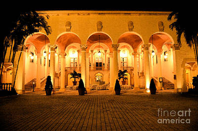 Digital Art - Biltmore Hotel Arched Colonnade And Grand Ballroom Courtyard Coral Gables Miami Fresco Digital Art by Shawn O'Brien