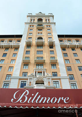 Biltmore Hotel Miami Coral Gables Florida Exterior Awning And Tower Art Print