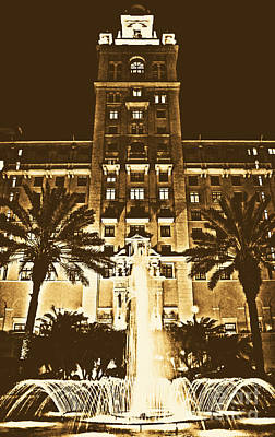 Digital Art - Biltmore Hotel Miami Coral Gables Florida Exterior Entrance Tower Rustic Digital Art by Shawn O'Brien