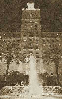 Digital Art - Biltmore Hotel Miami Coral Gables Florida Exterior Entrance Tower Vintage Digital Art by Shawn O'Brien