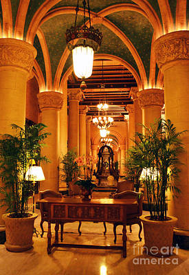 Vintage Photograph - Biltmore Hotel Vintage Lobby Coral Gables Miami Florida Arches And Columns by Shawn O'Brien