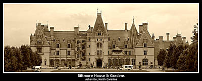 Travel Pics Royalty-Free and Rights-Managed Images - Biltmore House -- Poster by Stephen Stookey