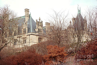 Asheville Photograph - Biltmore Mansion Estate Autumn Fall Season  - Biltmore Estate Ashville North Carolina Autumn  by Kathy Fornal