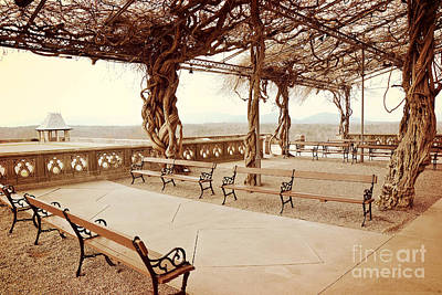 Mountain View Photograph - Biltmore Mansion Garden Terrace Piazza Overlooking Blue Ridge Mountains Asheville North Carolina by Kathy Fornal