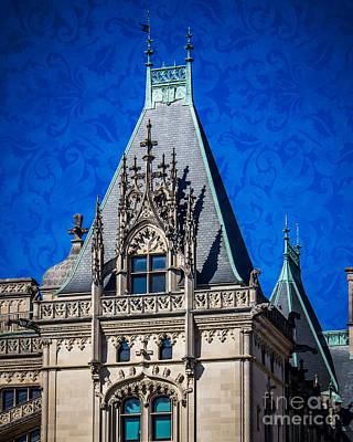 Chateau Digital Art - Biltmore Skies by Perry Webster