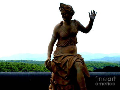 Photograph - Biltmore Statue by Darrin Diaz