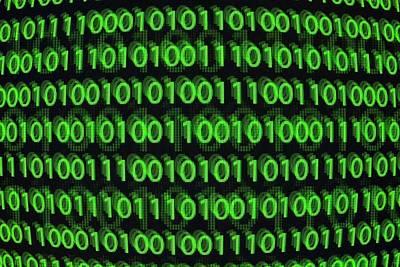 Binary Code Print by Daniel Sambraus