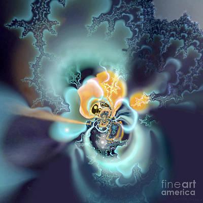 Digital Art - Binary Stars by Ursula Freer