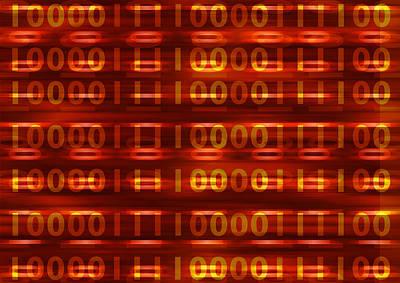 Binary Art Print