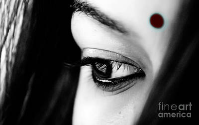 Photograph - Bindi Symbol Of Purity by Vineesh Edakkara