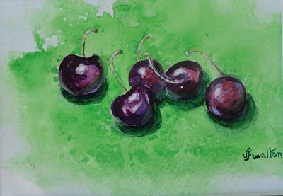 Painting - Bing Cherries by Judy Fischer Walton