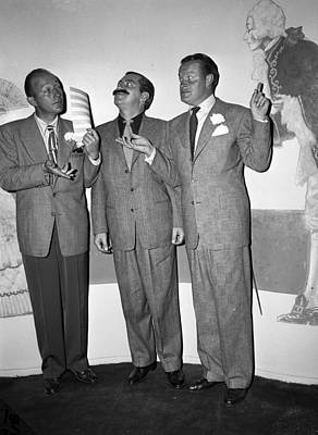 Crosby Photograph - Bing Crosby Jerry Colonna And Bob Hope by Retro Images Archive