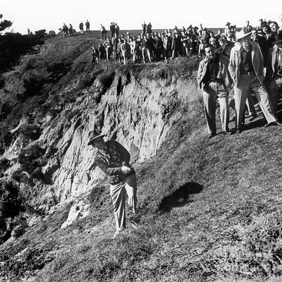 Photograph - Bing Crosby Playing In The Rough At Pebble Beach Circa 1958 by California Views Mr Pat Hathaway Archives