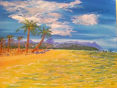 Phillipines Painting - Bing's Beach by Peter Debelius