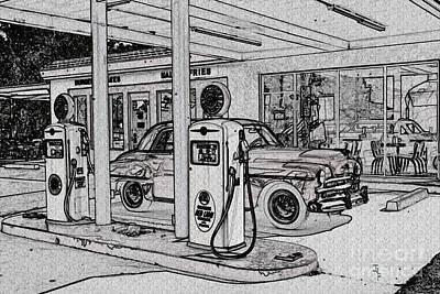 Bings Burger Station Cottonwood Arizona Print by Janice Rae Pariza
