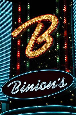 Binions - Downtown Las Vegas Art Print by Jon Berghoff