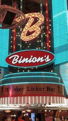 Photograph - Binions Whiskey Licker Bar by Kay Novy