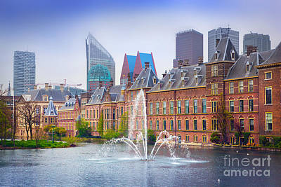 Government Photograph - Binnenhof Palace Dutch Parlament In The Hague by Michal Bednarek