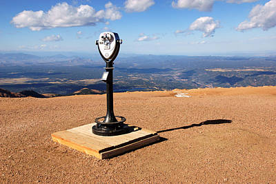 Photograph - Binoculars On Pike's Peak No.2 by Daniel Woodrum