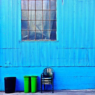 Bins And Chairs Art Print