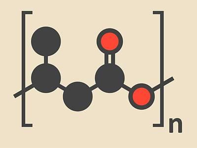 Polymer Photograph - Biodegradable Polymer Molecule by Molekuul