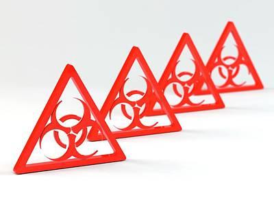 Biohazard Signs Art Print