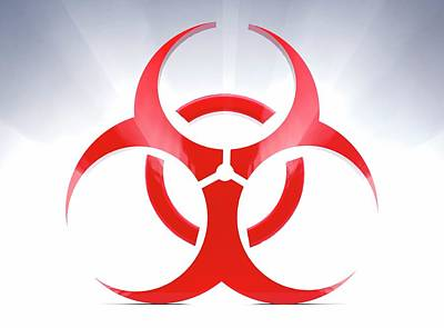 Biohazard Symbol Art Print
