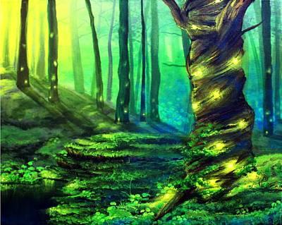 Bioluminescence Print by Erin Scott