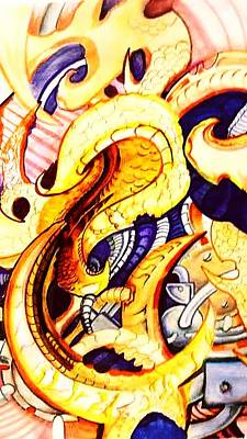 Steampunk Drawings - Bioorganic 1 by Chris Gill