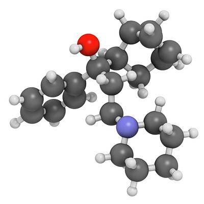 Chemical Photograph - Biperiden Parkinson's Disease Drug by Molekuul