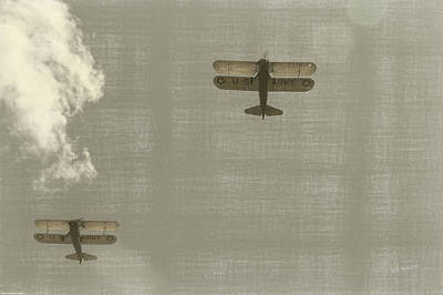 Bath Time - Biplane Fly Over by Mick Anderson